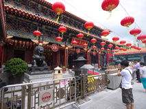 Templo del pecado del tai del wong de Hong-Kong Fotografía de archivo