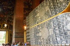 Templo del pho del wat de las estatuas de Buda del pie Fotografía de archivo