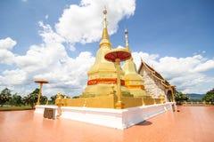 Templo del sala del montol del jao de Thar de la barbilla de Phra Maha, Lamphun Tailandia Foto de archivo libre de regalías