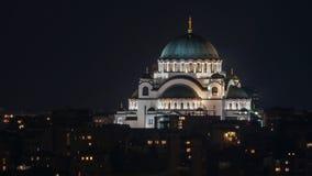 Templo del santo Sava, Belgrado, Serbia fotografía de archivo libre de regalías