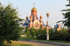 Templo del serafín del St de Sarov Zelenogorsk Territorio de Krasnoyarsk Imagenes de archivo