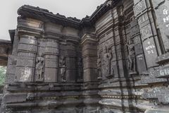 Templo del shiva de Hemadpanti, Hottal, maharashtra Foto de archivo