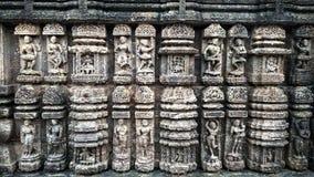 TEMPLO DEL SOL DE KONARK, BHUBANESHWAR, ODISHA, LA INDIA 21 DE OCTUBRE DE 2018 foto de archivo libre de regalías