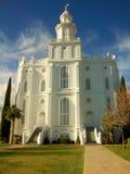 Templo del St George Utah LDS fotografía de archivo