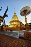 Templo del suthep del doi de Phrathat Imágenes de archivo libres de regalías