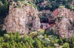 Templo del Taoist en la montaña Hengshan (gran montaña septentrional). Foto de archivo
