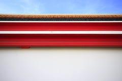 Templo del tejado de Tailandia y cielo azul Fotografía de archivo