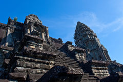 Templo del wat de Angor en Siam Reap Cambodia Foto de archivo libre de regalías