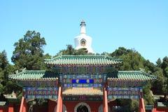 Templo del whitetower de Beihai Fotografía de archivo libre de regalías