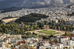 Templo del Zeus en Atenas, Grecia Imagen de archivo libre de regalías