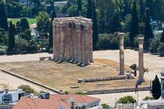 Templo del Zeus olímpico Atenas Imagen de archivo libre de regalías