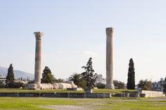 Templo del zeus olímpico, Atenas Fotos de archivo libres de regalías