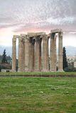 Templo del zeus olímpico, Atenas Imágenes de archivo libres de regalías
