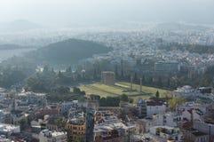 Templo del Zeus olímpico, Atenas, Grecia fotografía de archivo