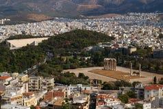 Templo del Zeus olímpico, Atenas, Grecia Imagen de archivo libre de regalías