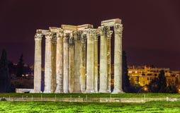 Templo del Zeus olímpico en Atenas Foto de archivo
