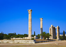 Templo del Zeus olímpico en Atenas, Grecia Fotografía de archivo