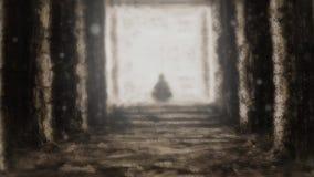 Templo desconhecido antigo do destino ilustração do vetor