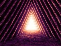 Templo desconocido del destino en pirámide ilustración del vector