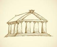 Templo Desenho do vetor Foto de Stock