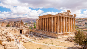 Templo do Bacchus em Baalbek, Líbano Foto de Stock Royalty Free