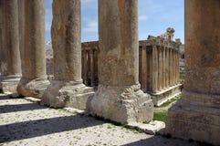 Templo do Bacchus em Heliopolis imagens de stock