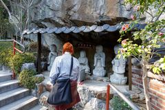 Templo do beira-mar do yonggungsa de Haedong em Busan imagem de stock royalty free