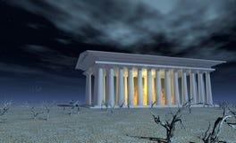 Templo do branco ilustração do vetor