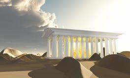 Templo do branco ilustração royalty free