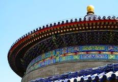 Templo do Céu, close-up, marco da cidade do Pequim, China imagens de stock royalty free