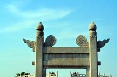 Templo do Céu, entrada ao altar circular de Yuanqiu no Pequim, China é o complexo religioso onde os imperadores rezam a t fotografia de stock