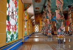 Templo do Cao Dai em Vietnam Fotos de Stock Royalty Free