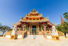 templo do chinês do leão da estátua Imagem de Stock Royalty Free