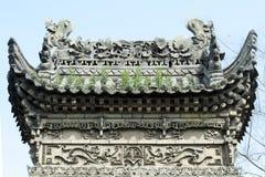 Templo do chinês do telhado Foto de Stock Royalty Free