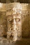 Templo do close up das máscaras em Kohunlich México Foto de Stock Royalty Free