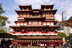 Templo do dente da Buda em Singapura Foto de Stock Royalty Free