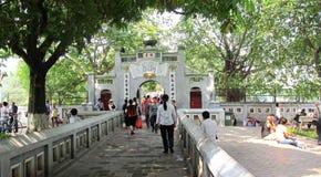 Templo do filho de Ngoc, Hanoi, Vietname Imagem de Stock