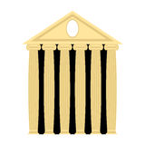 Templo do grego clássico Arquitetura com colunas Illustra do vetor Foto de Stock Royalty Free