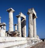 Templo do grego clássico de Aphaia Fotografia de Stock Royalty Free