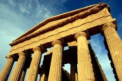 Templo do grego clássico de Concordia. Sicília Fotos de Stock Royalty Free
