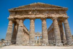 Templo do grego de Segesta Fotos de Stock
