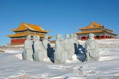 Templo do inverno imagens de stock royalty free