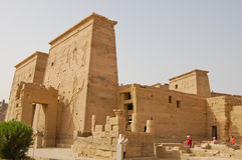 Templo do Isis em Philae, Egipto imagens de stock royalty free