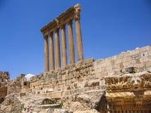 Templo do Júpiter em Baalbeck Líbano foto de stock royalty free