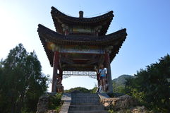 Templo do jardim de Aestheic Imagens de Stock