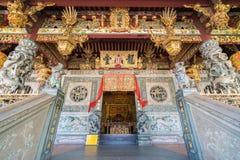 Templo do kongsi de Khoo em penang, local do patrimônio mundial fotos de stock royalty free