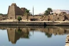 Templo do lago e do Karnak fotos de stock royalty free