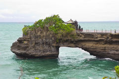 Templo do lote de Tanah em Bali, Indonésia Imagem de Stock