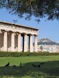 Templo do monte de Ifaistos e de Lycabetus Fotografia de Stock