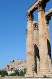 Templo do olímpico Zeus, Atenas Fotografia de Stock Royalty Free